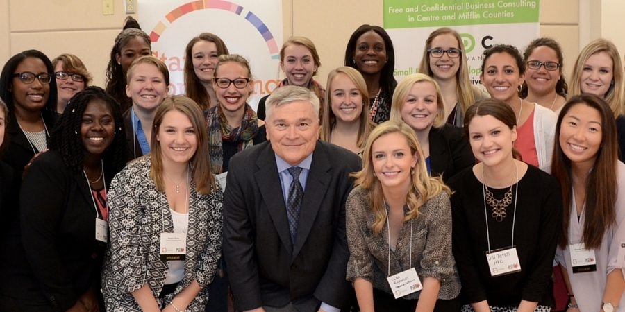 President Barron and GEW students and planners.