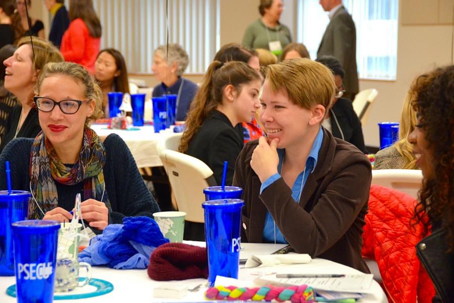 Individuals attend a GEW event.